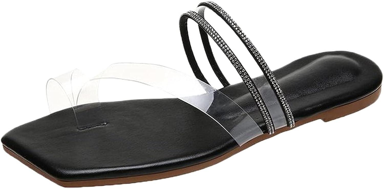 Women's Sandals Summer New Flat Bottom Retro Toe Bosden Large Women's Sandals