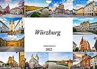 Wuerzburg Impressionen (Wandkalender 2022 DIN A4 quer): Wunderschoene Bilder der Stadt Wuerzburg (Monatskalender, 14 Seiten )