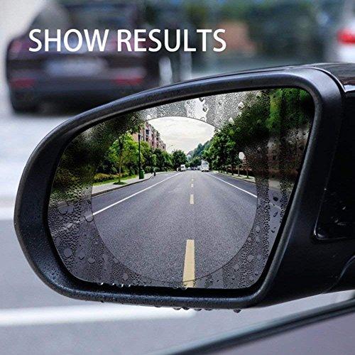 510jX7fmr1L - Freenavi Car Rearview Mirror Waterproof Film, Anti Fog Film Anti-Glare Anti Mist Anti-Scratch Waterproof Rainproof Rear View Mirror Window Clear Protective Film-2Pcs