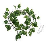 zhoujin Réplica artificial de vid para reptiles, terrario, espacio de vida, paisajismo, plantas falsas, hojas de árbol, barril, escondite