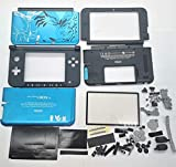 New Full Housing Case Cover Shell with Buttons Replacement Parts for Nintendo 3DS XL/3DS LL Game Console-Custom Blue.