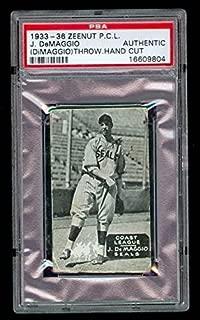 1933-36 Zeenut Zee Nut Joe DiMaggio A Graded Card - PSA/DNA Certified - Baseball Slabbed Autographed Vintage Cards
