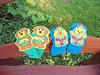 布のおもちゃ ガラガラ フットラトル モンキー&ベア