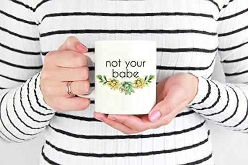 N\A Taza No es tu bebé, Regalo para Feminista, Cita Feminista, Taza Feminista, Cita Feminista, Feminismo, Regalo Feminista, Taza suculenta, Taza de Poder Femenino