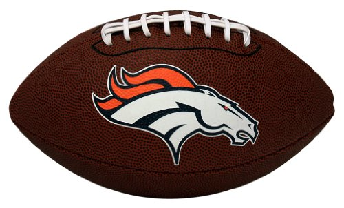NFL Game Time Full Regulation-Size Football, Denver Broncos