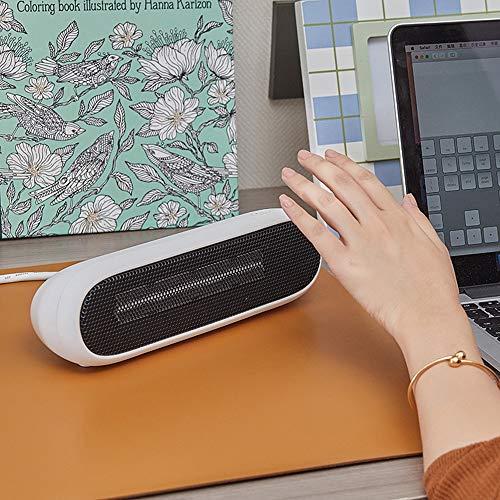 BDwantan Calentador de manos calentador de escritorio, dormitorio, hogar, oficina, calefactor eléctrico inteligente (azul, rojo, blanco) (color: blanco)