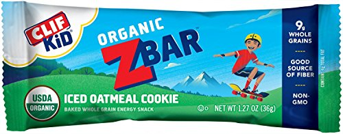 CLIF KID ZBAR - Organic  Energy Bar - Iced Oatmeal Cookie, 18 Count (Pack of 2)