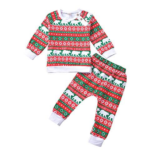 HINTINA Traje de Navidad para bebs y nias, diseo de oso - blanco - 6-7 aos