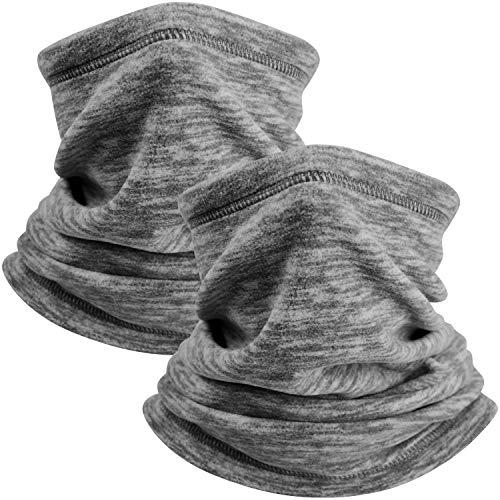 CMTOP - Cubrecuello, transpirable, cortavientos, transpirable, protección UV, para el rostro, sombreros, cuello y polaina, calentador para correr, ciclismo, deportes al aire libre (2 grises)