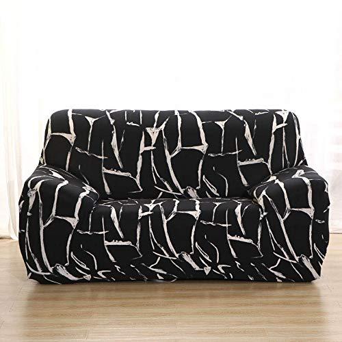 Funda de sofá elástica Fundas de sofá de algodón Fundas Ajustadas para sofá con Todo Incluido Fundas de sofá para Sala de Estar Mascotas Funda de sofá A14 4 plazas