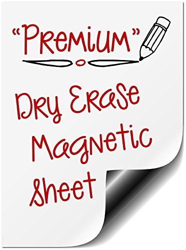 """Dry Erase Bigtime Magnetic 12"""" Message Board for Refrigerator Use as Whiteboard Weekly Planner Calendar, Fridge Magnet. Also Great as a Meal, Grocery, to Do or Chore List (Blank - No Design)"""
