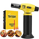 TBTEEK Blow Torch Lighter, Fit All Tank Butane Torch with Safety Lock and Adjustable Flame for Cooking, BBQ, Baking, Brulee Creme, DIY Soldering(Butane Not Included)