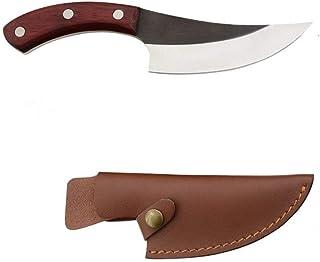 5,5 pouces désosser Couteau Camping serbe main pleine Tang tranches Chef de cuisine couteau de boucher cadeau en cuir gain...