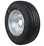 ST185/80R13, 185 80 R13, 185 80 13, Load range C, Radial Trailer Tire and Rim, Carlstar (Formerly Carlisle) Ultra CRT Tire and rim assembly
