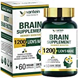 Brain Booster, 60 Capsules Lion's Mane Supplement for...