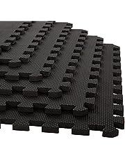 Stalwart Golvplattor med skummatta, sammankopplade EVA-skumstoppning mjukt golv för träning, yoga, camping, barn, bebisar, lekrum – 4-pack, 61 cm x 61 cm x 1,3 cm