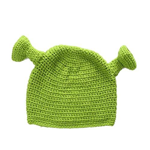 BYFRI Shrek Hüte Mit Ohren Erwachsenes Cosplay Prop Mützen Strickmütze Handgestrickte Cap Für Männer Und Frauen