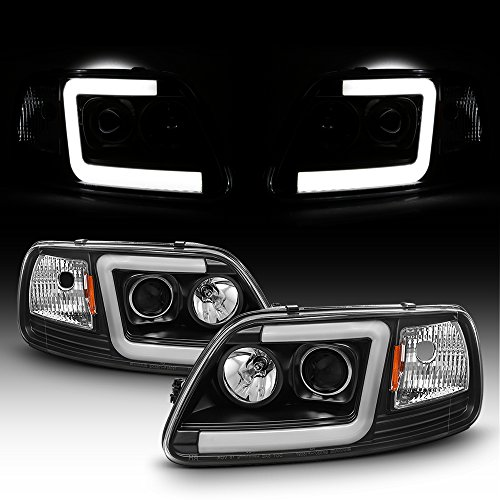 For 1997-2003 Ford F150 97-02 Expedition Truck Tube Bar Projector Headlights Driver+Passenger Side