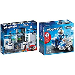 Product 1: Fun for little police officers: Police Command Centre with Prison, police officers and criminals, many accessories for accurate role-play Product 1: Three figures, two prison cells, with command centre and telephone system, helicopter land...