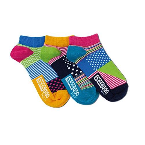 United Oddsocks - 3 Kurze Socken Damen 37-42, Modell: Streifen Und Punkte L6