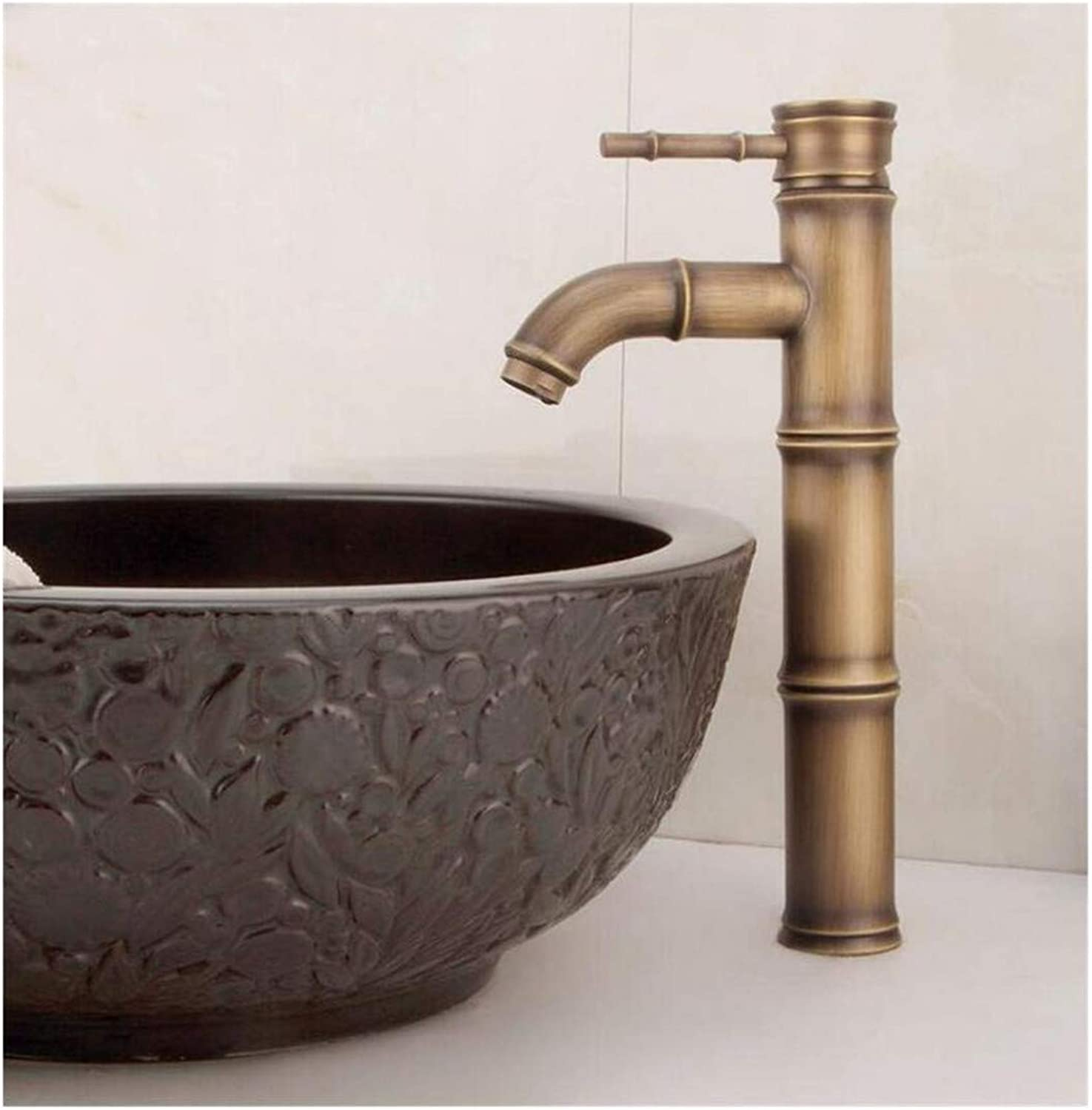 Kitchen Bath Basin Sink Bathroom Taps Basin Water Tap Faucet Bamboo Cold and Hot Water Mixer Taps Ctzl4481
