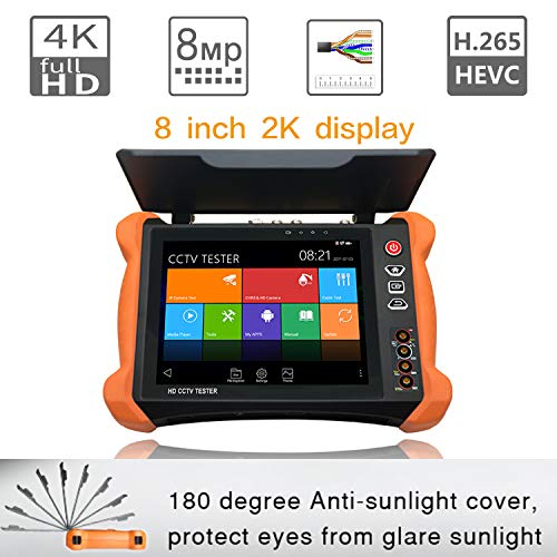 SGEF IP Camera Tester 8 Inch 2K Retina Touch Screen Security CCTV Tester Monitor with HD...