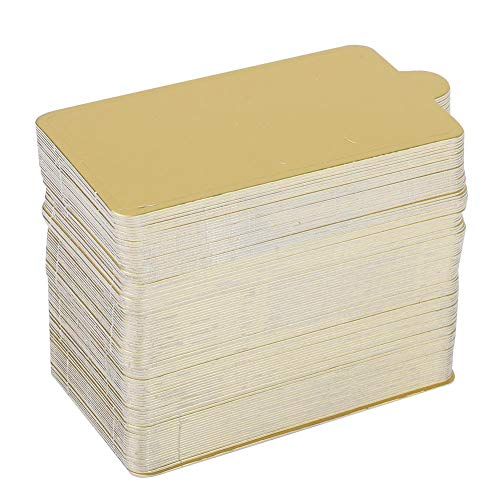 Raguso Mini cartón de Papel Dorado para Tartas, 100 Piezas, rectangulares, de Mousse, para Tartas, Base Decorativa para Tartas, Cupcakes, Pasteles, postres, exhibiciones, Bandeja para Bodas(Large)