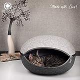 CanadianCat Company  | Katzenest, Katzenhöhle in Zwei Grautönen - das Katzenbett mit Stil