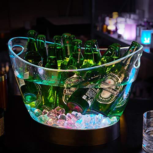 Secchiello Per Ghiaccio A LED, Lampada con Gradienti Colorati, Raffredda Bottiglie, Secchiello Per Spumante, Refrigeratore Per Bevande, Per Ristorante, Pub, Feste
