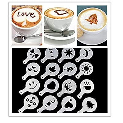 Coffee Barista Stencils Fancy Coffee Printing Model Set of 16