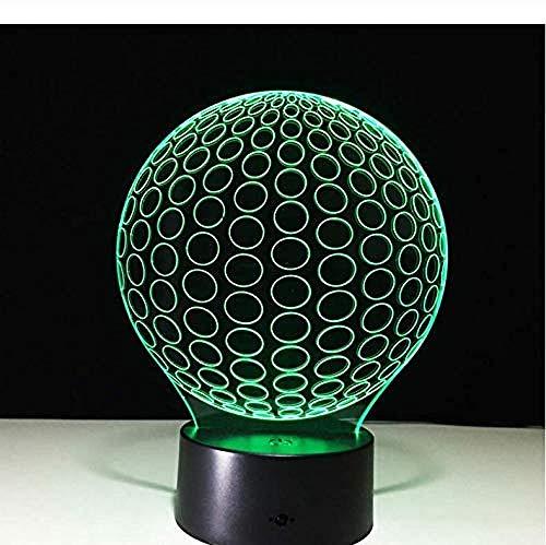 3D Ilusión LED de luz nocturna Pantalla Gift Darling In The Best Birthday Holiday Gifts For Children Con interfaz USB, cambio de color colorido