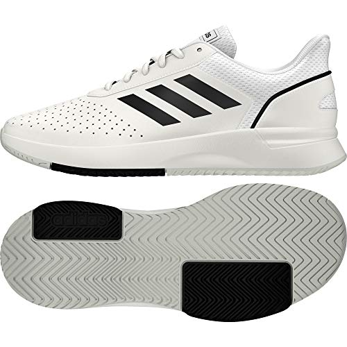 adidas COURTSMASH, Scarpe da Tennis Uomo, Ftwr White/Core Black/Grey Two f17, 44 EU