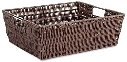 Wicker shelf totes