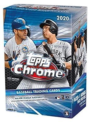 2020 Topps Chrome MLB Baseball BLASTER box (7 pks + one 4-card exclusive parallel pk/bx)
