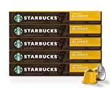 Starbucks by Nespresso, Blonde Roast Espresso (10 Count (Pack of 5) single serve capsules,...