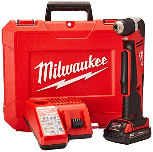 Milwaukee Electric Tool 2615-21CT Right Angle Cordless Drill Kit, 18 V, Li-Ion, 3/8' Single Sleeve Chuck