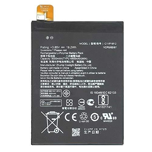 Ellenne Batteria Compatibile con ASUS ZENFONE 3 Zoom S ZE553KL C11P1612 AD Alta capacità 5000MAH con Kit SMONTAGGIO Incluso by Store