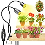 LED Grow Light for Indoor Plants, GPEESTRAC 75W Sunlike Full Spectrum Plant Lamp with COB CREE LED, Auto On/Off 3/6/12H Automatic Timer, 4 Dimmable Levels for Plants Growth