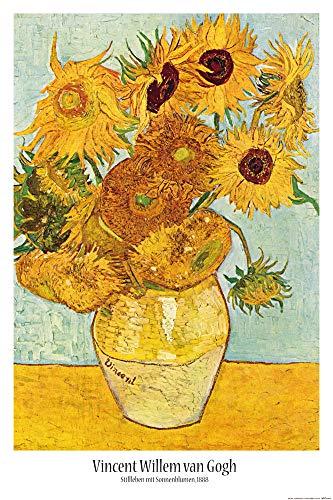 1art1 Vincent Van Gogh - Stillleben Mit Sonnenblumen, 1888 Poster 91 x 61 cm