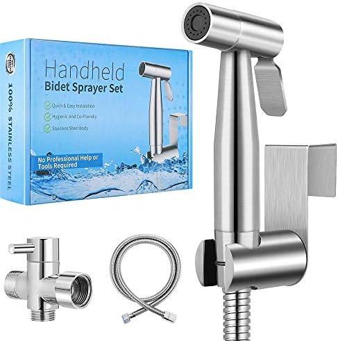 2020 New Version Handheld Bidet Toilet Sprayer Premium Stainless Steel Bathroom Bidet Sprayer product image