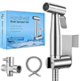 【 2020 New Version】Handheld Bidet Toilet Sprayer, Premium Stainless Steel Bathroom Bidet Sprayer Set, Baby Cloth Diaper Sprayer with Superior Complete Accessories, Support Wall or Toilet Mount