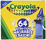Best Crayon Sharpeners - Crayola Ultra Clean Washable 64 Count Crayons Review