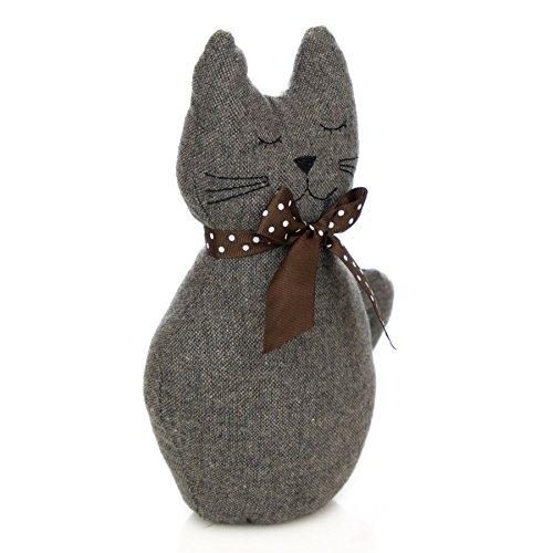 Nicola Spring Cale Porte en Tissu Jasper The Cat - Vintage - pour Maison/Bureau