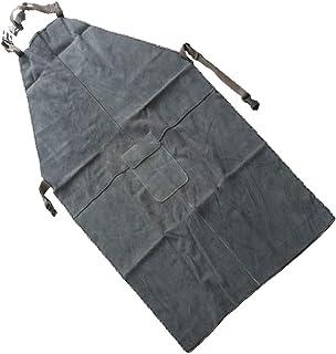 Taglia Unica Payper 301 Grembiule saldatore lavoro uomo donna in crosta bovina 60x90cm protezione manipolazioni pesanti materiali caldi Ghiaccio