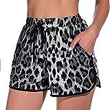 ZEZKT Pantalones Cortos para Mujer Mujeres Cordón Casual Pantalones Pantalones Deportivos Leggings y Medias Deportivas para Mujer Yoga de Cintura Alta