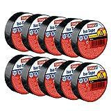 tesa - Cinta aislante reparadora adhesiva, resistente al calor, para aislar cables eléctricos, 10 m x 15 mm, paquete de 10 Rollos, color negro