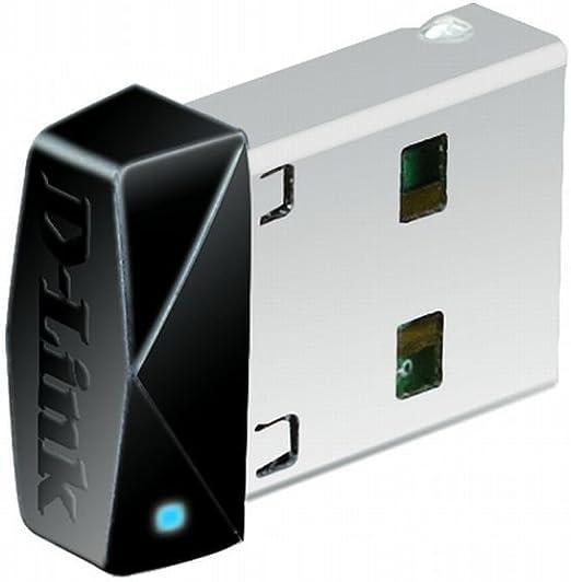 D-Link DWA-121 – Adaptador USB de Red WiFi (N 150, USB 2.0, Compatible Windows, Mac y Linux, WPS, encriptación WPA2) Negro