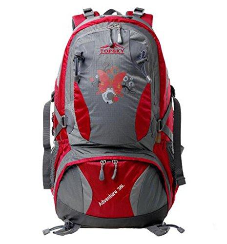 sac à dos randonnée Outdoor Sac à dos 40L sac sac à dos alpinisme épaule hommes et les femmes de sac à bandoulière en plein air Sacs à dos de randonnée ( Couleur : Rose red , taille : 38L )