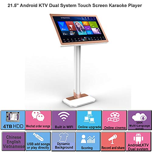 Great Features Of HAJURIZ 19'' Touch Screen Karaoke Player,4TB HDD 80K Chinese,English Vietnamese So...