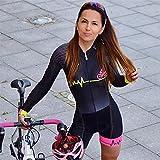 Triathlon femmes à manches longues vélo course costumes collants combinaison cyclisme vélo porter maillot de bain (Color : 4, Size : XL)